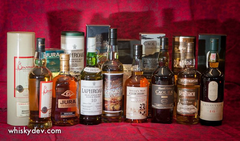 September Whisky Tasting Line-up